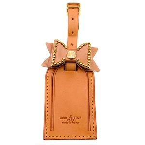 Authentic Louis Vuitton Luggage Tag w/Bow added